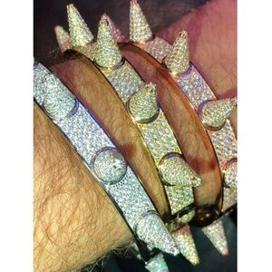 Harlembling Rapper Spike Bangle Bracelet